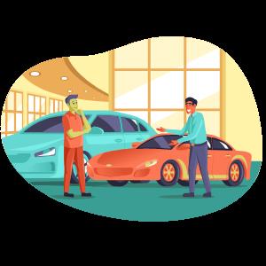 dealership illustration
